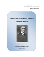 Frederic William Patterson