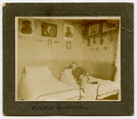Anderson in dorm room