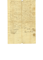 Land transaction Samuel Witter to Elizabeth Marsh, then from Marsh to Cyrus Peck