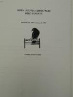 Nova Scotia Christmas Bird Count (Dec 1995 - Jan 1996)