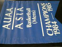 Blue Basketball Banner