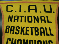 Yellow Basketball Banner