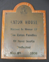 Eaton House Plaque