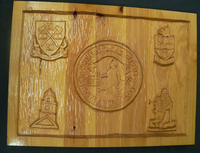 Wood Carving of Acadia Crest