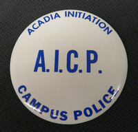 Campus police Button