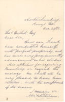 Correspondence from A. McNaughtan Patterson to Thomas Outhit