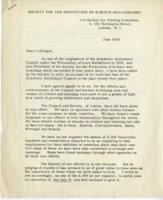 Letter from Lord Beveridge