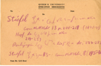 Memorandum on Queen's University Letterhead