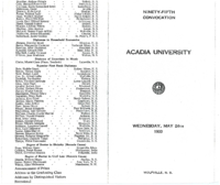 Convocation program, 1933