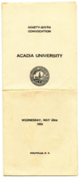 Convocation program, 1934