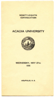Convocation program, 1936