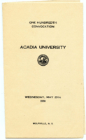 Convocation program, 1938