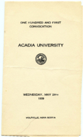 Convocation program, 1939