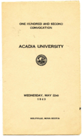 Convocation program, 1940