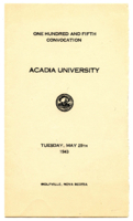 Convocation program, 1943