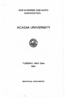Convocation program, 1944