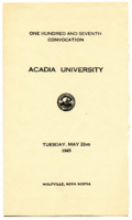 Convocation program, 1945