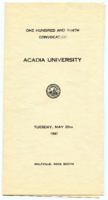 Convocation program, 1947