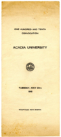Convocation program, 1948