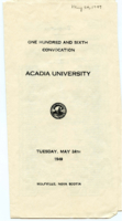 Convocation program, 1949