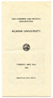 Convocation program, 1950