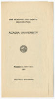 Convocation program, 1951