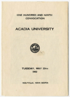 Convocation program, 1952
