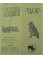 Blomidon Naturalists Society pamphlet