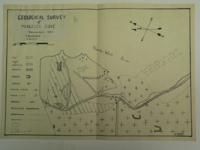 Hand drawn geological survey of Purcell's Cove