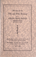 Minutes of the 79th and 80th Meetings of the African United Baptist Association of Nova Scotia