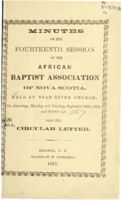 Minutes of the Fourteenth Session of the African Baptist Association of Nova Scotia