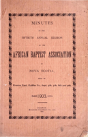 Minutes of the Fiftieth Annual Session of the African Baptist Association of Nova Scotia