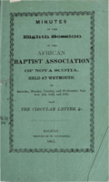 Minutes of the Eighth Session of the African Baptist Association of Nova Scotia
