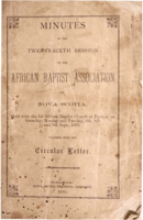 Minutes of the Twenty-Sixth Session of the African Baptist Association of Nova Scotia