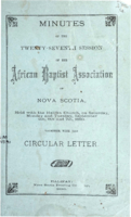 Minutes of the Twenty-Seventh Session of the African Baptist Association of Nova Scotia
