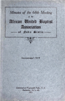 Minutes of the 68th Meeting of the African United Baptist Association of Nova Scotia