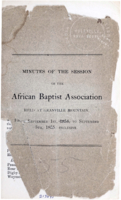 Minutes of the Session of the African Baptist Association
