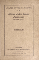 Minutes of the 70th Meeting of the African United Baptist Association of Nova Scotia