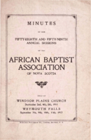 Minutes of the Fifty-Eighth and Fifty-Ninth Annual Sessions of the African Baptist Association of Nova Scotia