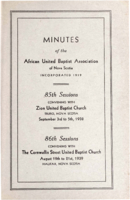 Minutes of the African United Baptist Association of Nova Scotia