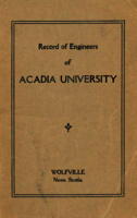 Records of Engineers of Acadia University