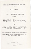 Minutes of the twenty-fourth session of the Baptist Convention of Nova Scotia, New Brunswick, and Prince Edward Island.